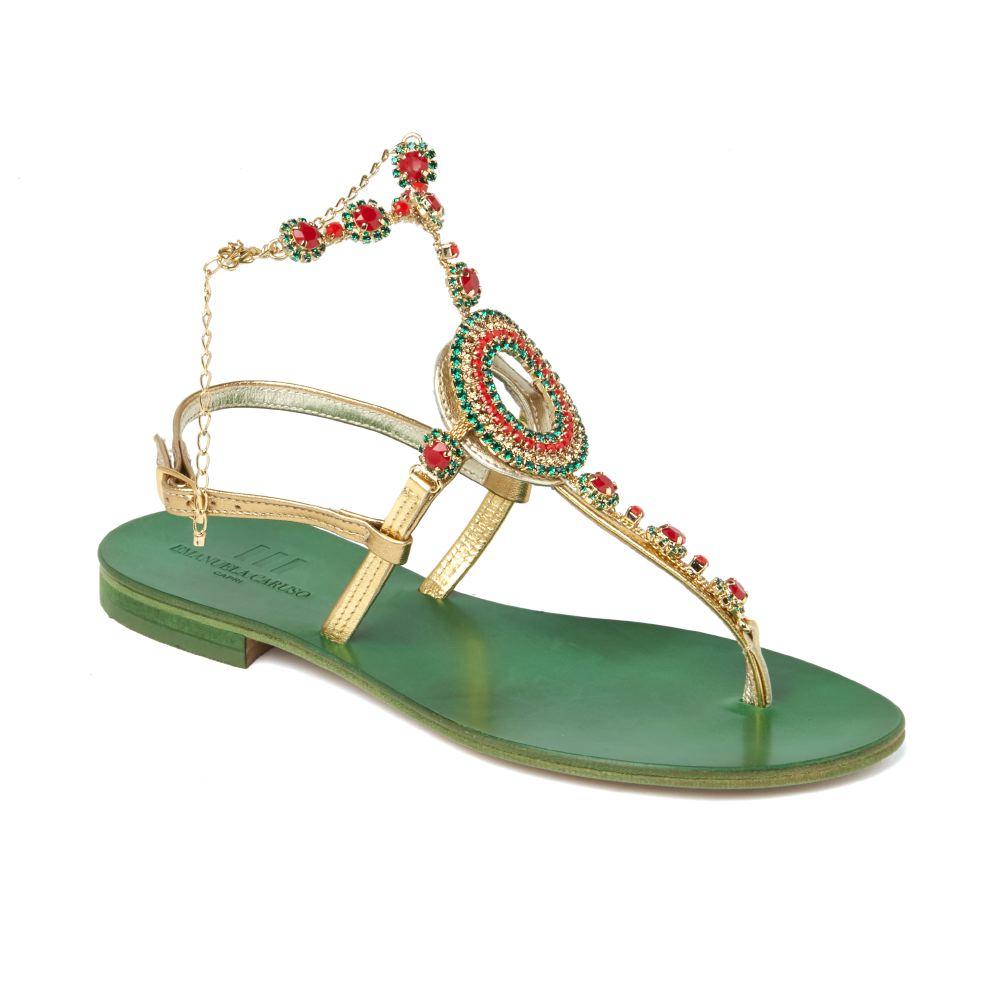 Sandalo infradito history cerchio multicolor verde